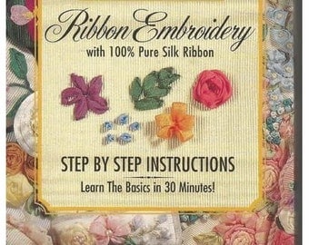 Bucilla Quick and Easy Introduction to Silk Ribbon Embroidery (VHS TAPE)