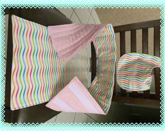 Portable High Chair, Travel Chair, Anywhere Travel Chair, Fabric High Chair,  for Baby & Toddler, Reversible, Waves