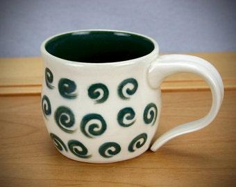 Green Swirls Mug