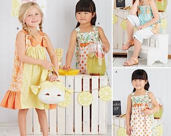 Simplicity Pattern 8145 Child's Dresses, Top, Capri Pants and Purse