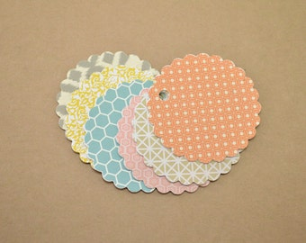 Gift Tags, Favor Tags, Wedding Favor Tags, Circle Tags, Jar Tags, Scalloped Tags, Multi Colored Gift Tags, Variety Pack Gift Tags