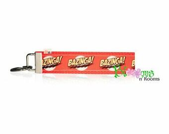 Bazinga wrist key chain