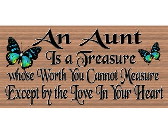 Aunt Wood Sign  Aunt Plaque - Wood Signs with Sayings - GS 2568