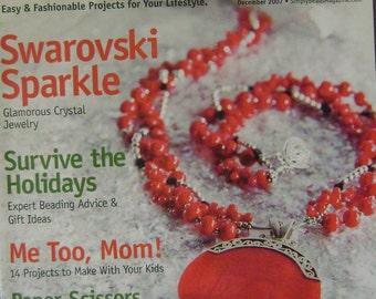 Simply Beads Instruction Magazine - December 2007
