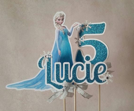Etsy Frozen Cake Decorations : Frozen Cake Topper Customized Frozen Inspired Decoration.