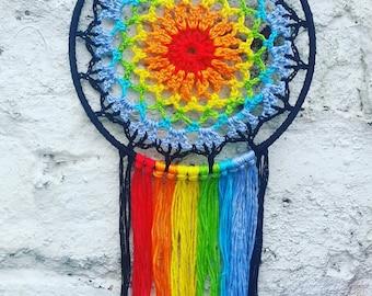 Rainbow dreamcatcher 5 inch