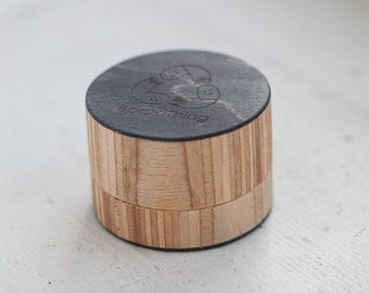 Unique Wooden Herb Grinder, Made from recycled skateboards