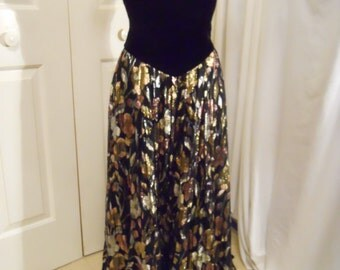 vintage Jessica McClintock strapless evening dress