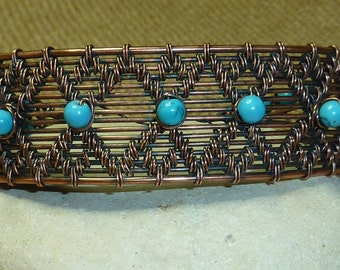 Flaming Turquoise Cuff Bracelet