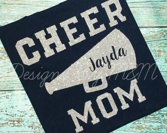Cheer Mom Shirt, Cheerleader Mom Shirt, Megaphone Shirt, Cheer Mom