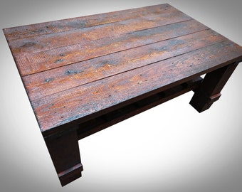 Coffee table From Reclaimed Wood , Rustic Style, Upcycled, Reclaimed Wood, Solid Wooden Handmade, Oriental style