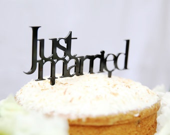 Just Married Cake Topper | Wedding Cake Topper