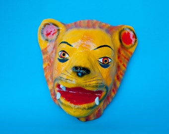 Traditional Mexican Mask paper mache lion