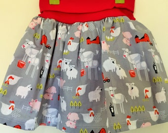 Cute little girls handmade skirt - fully lined - age 5 years