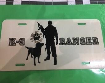 K9 Ranger License plates