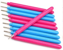 10 pieces DIY Quilling Paper Tool Slotted Paper Quilling Rolling Pen Handmade Paper Craft Bead Roller Tool Making Paper Beads Quilling Tool