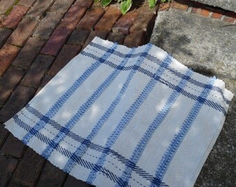 Handwoven Mop Cord and Denim Throw Rug