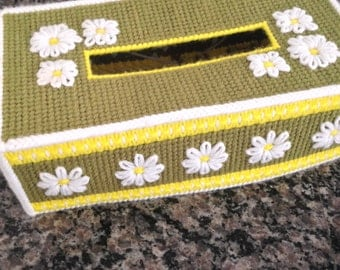 Long Hand Stiched Tissue Box Cover
