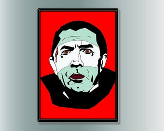 Dracula: Bela Lugosi inspired Minimalist Horror Movie Poster inspired designed by Cult.Graphics