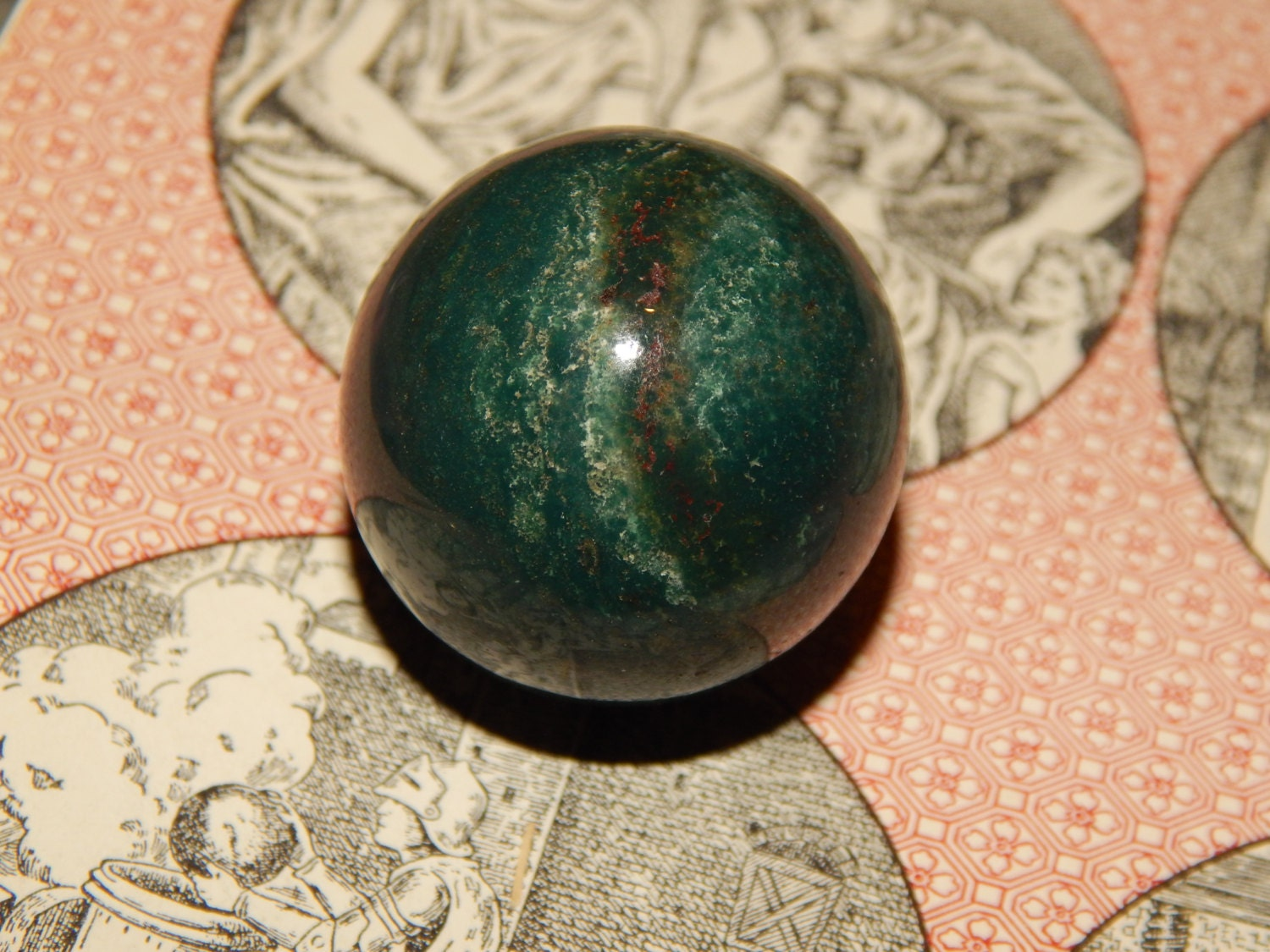 genuine bloodstone orb genuine bloodstone gemstone sphere
