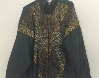 80's Jungle print track jacket
