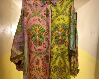 Gianni Versace Couture '90 vintage silk shirt