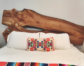 Custom Live Edge Headboard