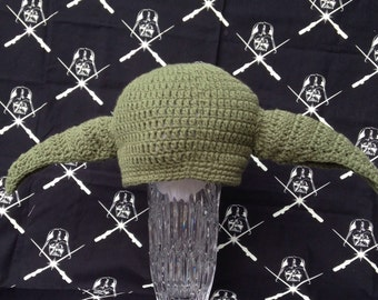 Inspired Star Wars Hat's, Yoda Hat, Crochet Yoda Hat, Star Wars Photo Props, Star Wars Inspired Yoda Hat,  Star Wars Kids  Hats