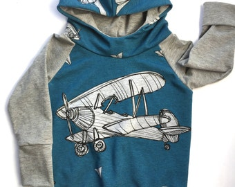Airplane hoodie hooded sweater