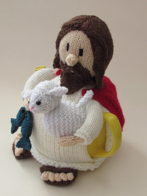 Knitting Pattern Central Easter : Jesus Tea Cosy Knitting Pattern from TeaCosyFolk on Etsy Studio