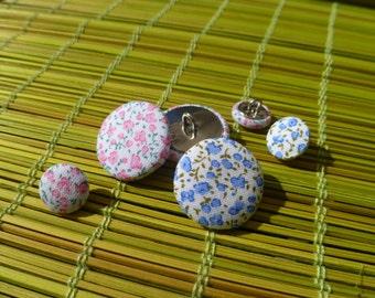 Liberty fabric button