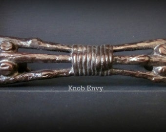 Rustic Metal Twig Branches Pull