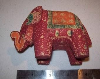 Vintage India 70's Hand Painted Elephant Nice!