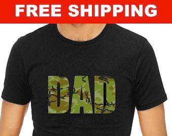 Camo Dad Shirt - - Dad Shirt - Father's Day - Father Shirt -