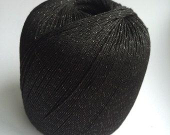 Rico Essentials Crochet Glitz 008 Black
