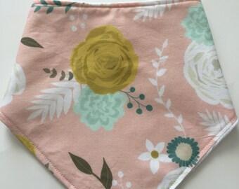 Summer Blooms Bandana Bib: Pink Floral