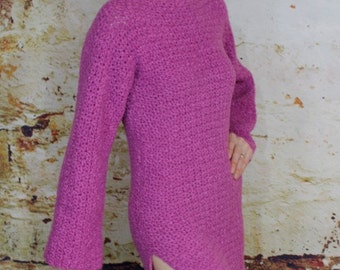 Crocheted Pullover Snuggle Crocheted Gown Pattern