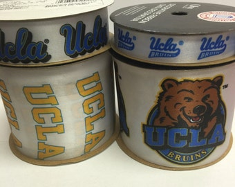 Offray 4-Pack UCLA Bruins Ribbon, NCCA ribbon  Offray College Ribbon