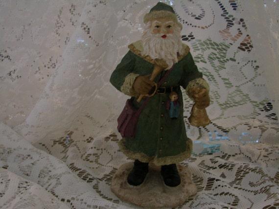 Vintage old fashion saint nicholas figurine