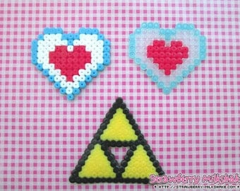 Video Game Hama: *Legend Of Link* Collectibles (Magnet / Ornament / Hair Clip / Necklace)