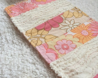 Vintage Retro barbie-sized blanket and pillow