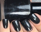 The Upsidedown by CANVAS lacquer - a black jelly sparkling with holographic glitter
