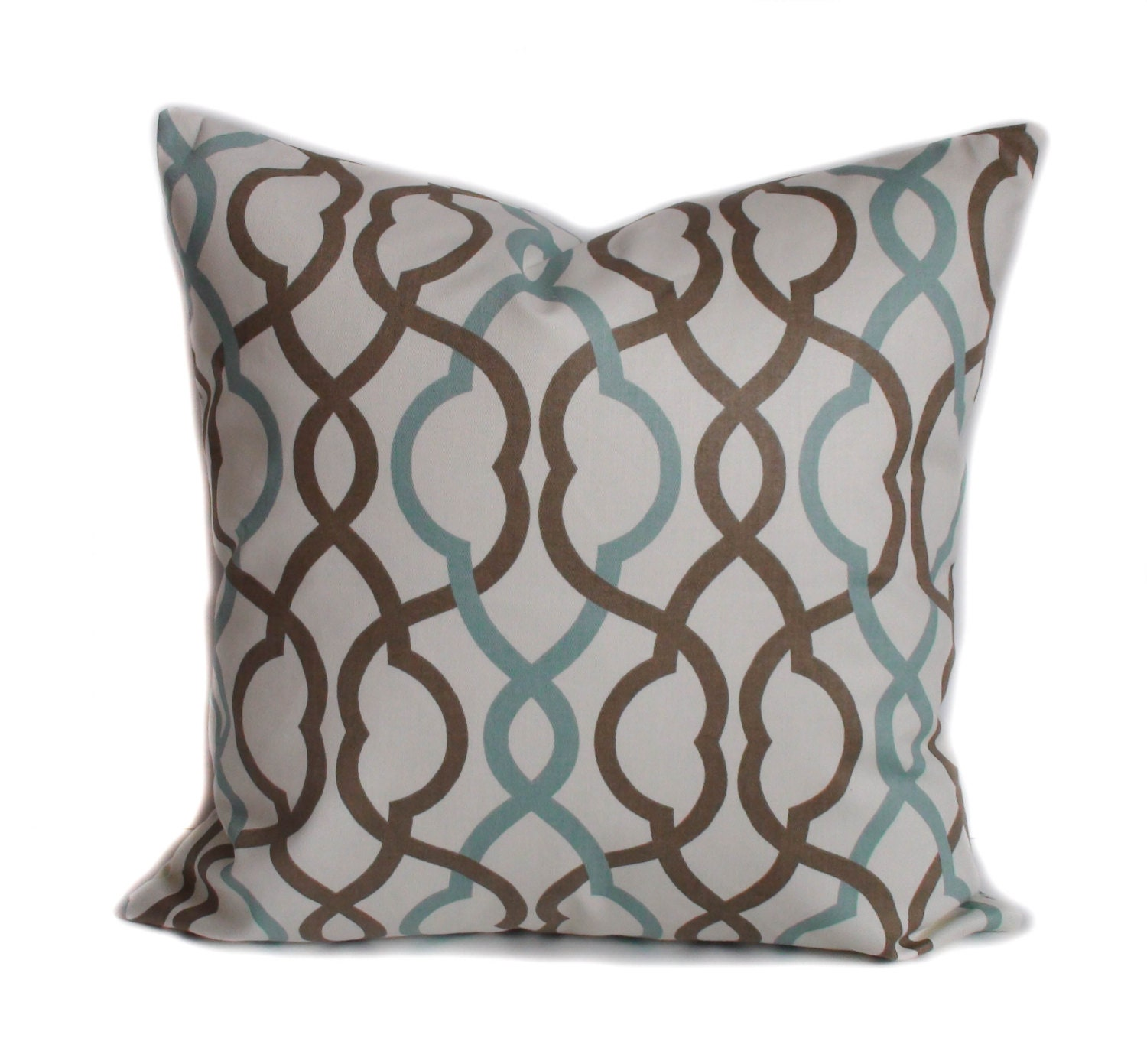 Blue pillow cover Brown pillow Decorative pillow Throw