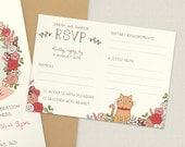 Custom RSVP |  Wedding RSVP card with pet
