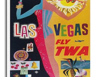 Las Vegas Art Travel Poster Vintage Home Decor Print Retro xr502