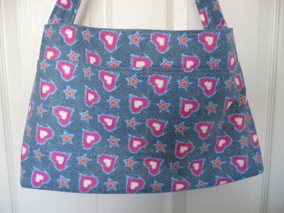 Pink Hearts Purse Diaper Bag
