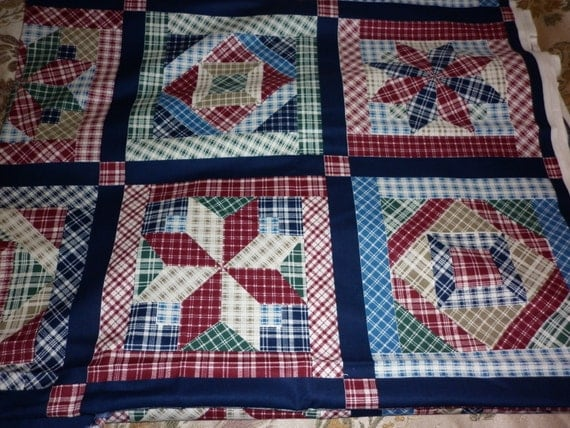 VIP Cranston Blue Patchwork Quilt Fabric By