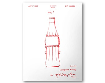 Coca-Cola Bottle Patent Poster - 1937 U.S. Patent Print #105,529