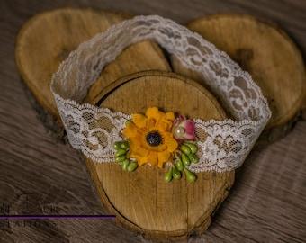 Newborn Sunflower Headband