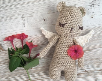 Magic Teddy bear, made to ORDER, Christmas gift, crochet teddy,crochet toy,chubby teddy,teddy bear crochet, gift teddy,child gift,birth gift